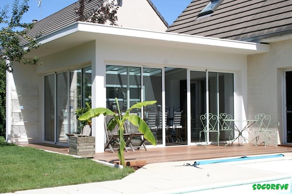 veranda toiture plate